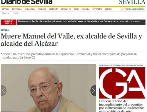 Diario de Sevilla: Muere Manuel del Valle, ex alcalde de Sevilla y alcalde del Alcázar