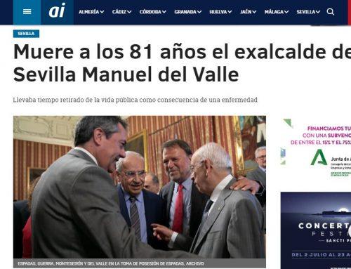 Andalucia Información: Muere a los 81 años el exalcalde de Sevilla Manuel del Valle