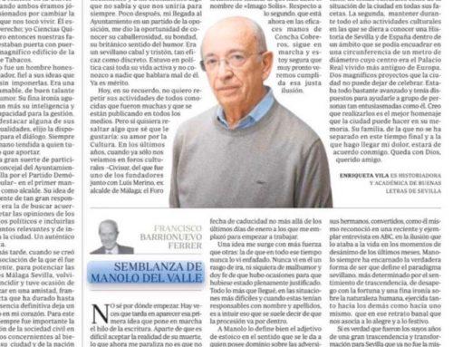 ABC Sevilla: En memoria del exalcalde de Sevilla